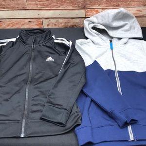 Adidas & Carter's kids jackets size 7 excellent U4